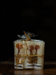 Aromatic Pondicherry Wax Candles - Jasmine & Lavender (Small - Set of 6)