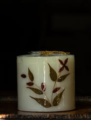 Aromatic Pondicherry Wax Pillar Candle - Rose