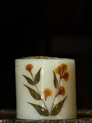 Aromatic Pondicherry Wax Pillar Candle - Jasmine
