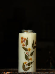 Aromatic Pondicherry Wax Pillar Candle - Lily