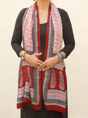 Bagh Hand Block Printed Modal Silk Stole