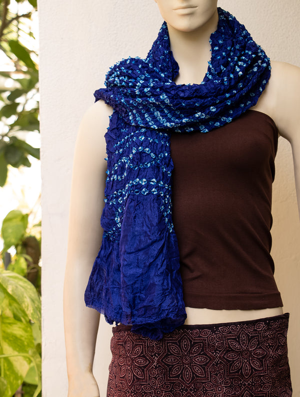 Bandhini Art / Poly Silk Stole - The India Craft House