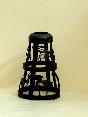 Bastar Tribal Art - Candle Holder Cover - The India Craft House