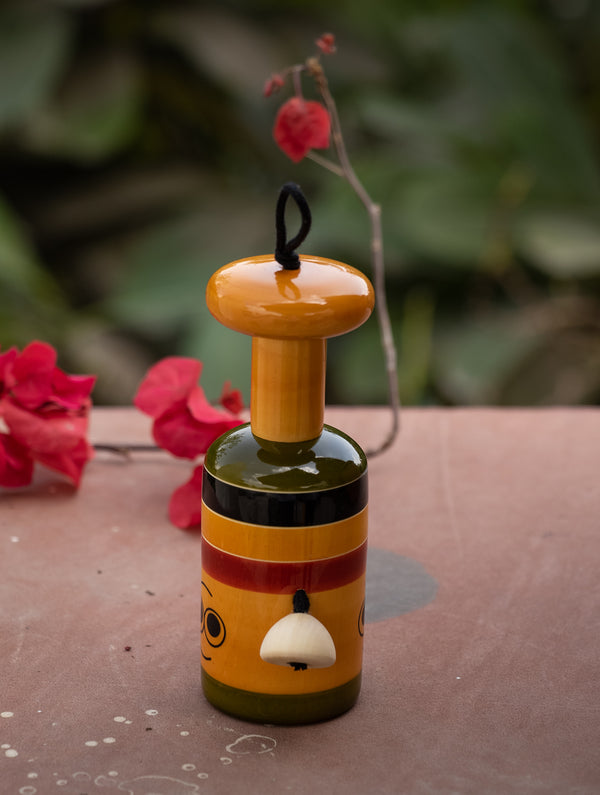 Bell Rattle - Reversible Wooden Toy - The India Craft House