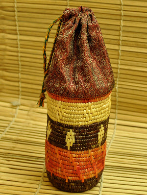 Bhadhohi Craft - Wine / Water Bottle Holder - The India Craft House