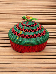 Bhadohi Basket Craft - Multi-Utility Round Basket With Lid