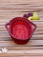 Bhadohi Basket Craft - Utility Basket With Handle