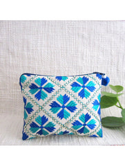 Blue Green Embellished Coin Pouch