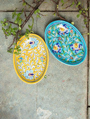 Blue Pottery Serving Dishes  (Set of 2)