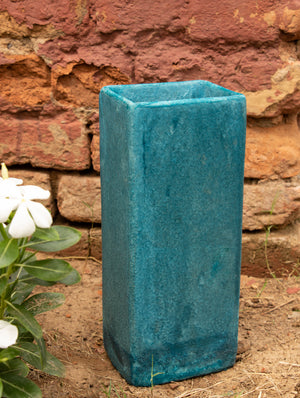 Delhi Blue Art Pottery Flower Vase - The India Craft House