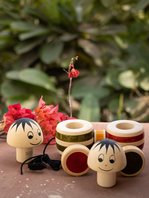 Bobblers - Simple Wooden Pull Toy - The India Craft House