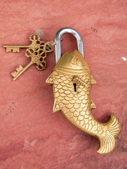 Brass Locks ☼ Fish (Big)