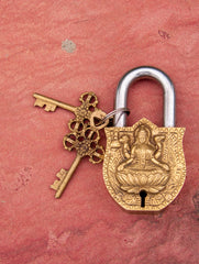 Brass Locks ☼ Goddess Laxmi (Medium)
