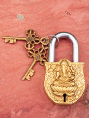 Brass Locks ☼ Lord Ganesha (Medium)