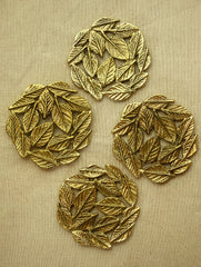 Brass Banyan Leaf Plate / Wall Plaque (Set of 4)