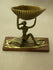 Brass Sculpture - Lady Holding Seashell - The India Craft House