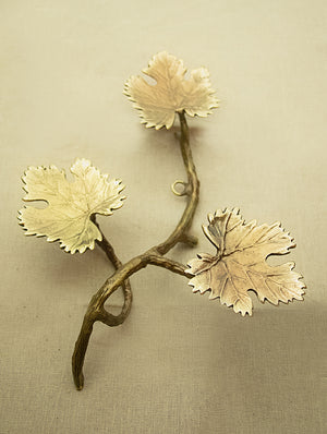 Brass Wall Piece / Tealight Holder - Grapevine - The India Craft House