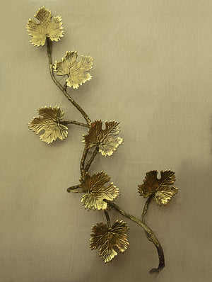 Brass Wall Plaque  - Maple Leaves (7) - The India Craft House
