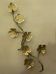 Brass Wall Plaque  - Maple Leaves