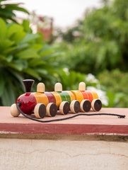 Channapatna Wooden Pull Toy Train