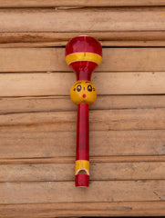 Channapatna Wooden Rattle - Bullet Rattle