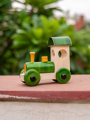 Channapatna Wooden Train with Green Engine
