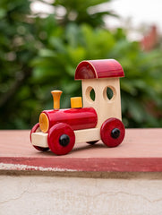 Channapatna Wooden Train with Red Engine