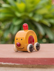 Channapatna Wooden Yellow Car