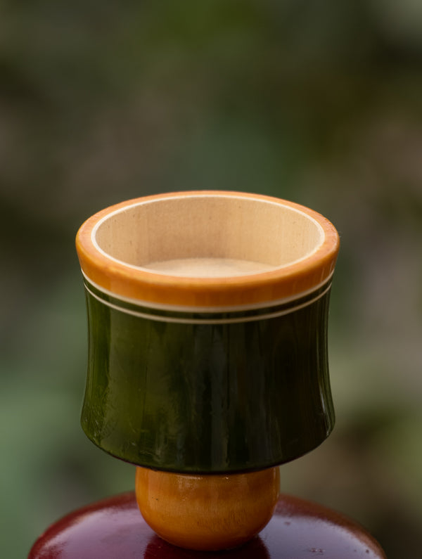 Channapatna Wood Craft - Candle Stand - The India Craft House