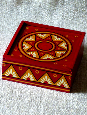 Channapatna Wood Craft - Trinket Box - The India Craft House