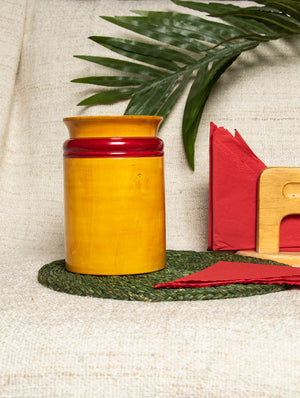 Channapatna Wood Craft - Utility Jar - The India Craft House