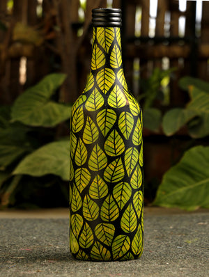 Channapatna Wood Craft Curio - Bottle - The India Craft House 1