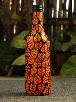 Channapatna Wood Craft Curio - Bottle - The India Craft House