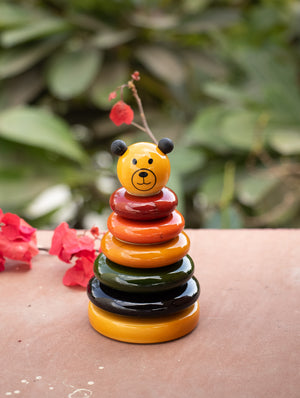 Cubby - Wooden Stacker Toy - The India Craft House