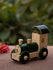 Channapatna Wooden Toy - Engine, Green, Small - The India Craft House