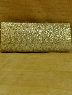 Clutch Bag, Silver Sequinned Satin - The India Craft House 1