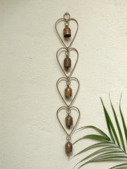 Copper Bells String  On Heart Shaped Frame