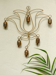 Copper Bells String On Lotus Shaped Frame
