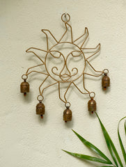 Copper Bells String On Sun Shaped Frame