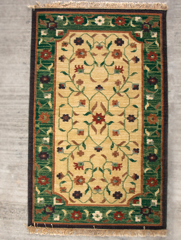 Handwoven Kilim Rug (8 x 5 ft) - Persian Floral - The India Craft House