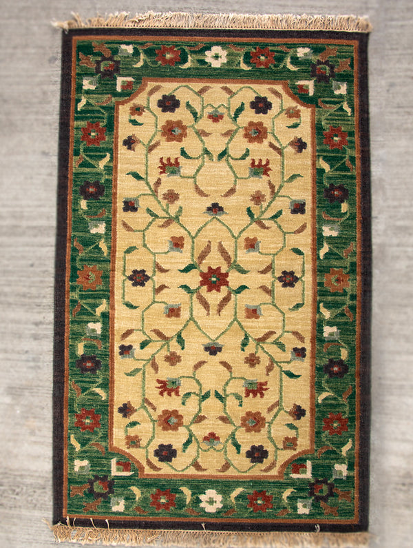 Handwoven Kilim Rug (6 x 4 ft) - Persian Floral - The India Craft House