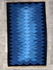 Handwoven Kilim Rug (6 x 4 ft) - Zigzags