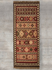 Exclusive Handwoven Kilim Long Runner Rug (6 x 2 ft)