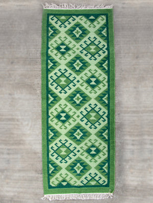 Handwoven Kilim Long Runner Rug (6 x 2 ft) - The India Craft House