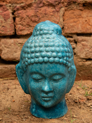 Delhi Blue Art Pottery Curio - Buddha - The India Craft House
