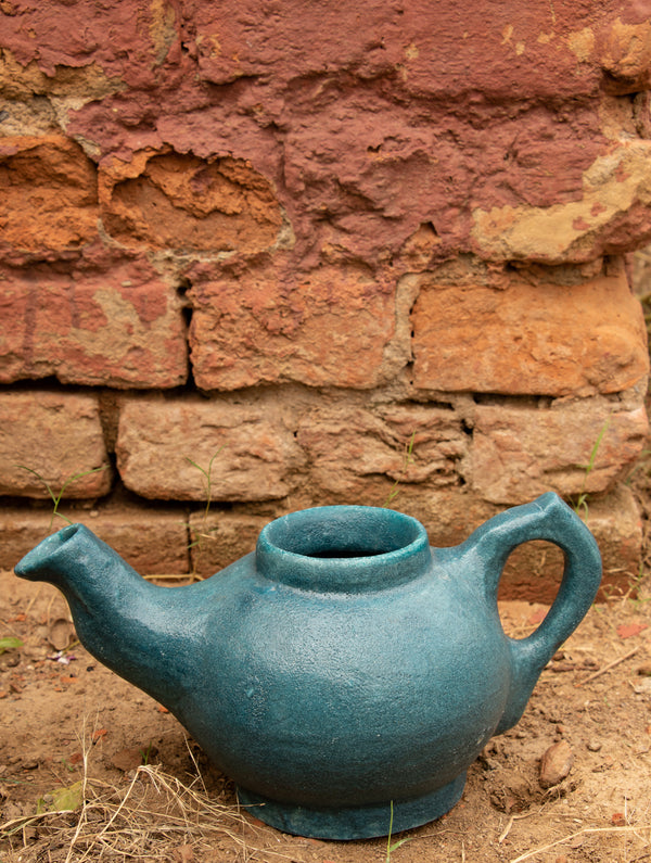 Delhi Blue Art Pottery Curio - Teapot - The India Craft House