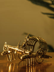 Dhokra Craft Curio - Bullock Cart