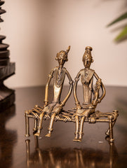 Dhokra Craft Curio - Couple with Child