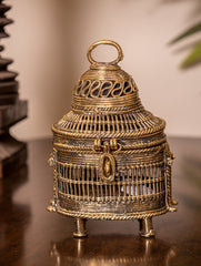 Dhokra Craft Curio - Decorative Jaali Box