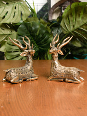 Dhokra Craft Curio - Reindeer (Set of 2)